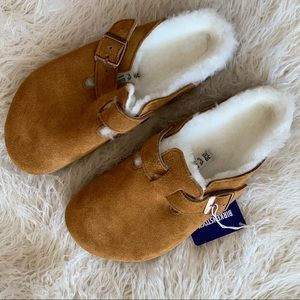 Birkenstock Shearling Boston Clogs Women's Size 7